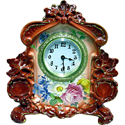 Royal Bonn Porcelain Clock by Ansonia