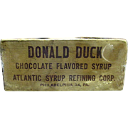 Original Donald Duck Chocolate Syrup Shipping Box