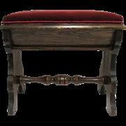 Slipper Stool  American Victorian Footstool