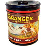 Granger Tobacco Humidor Tin Fathers Day Special Advertising Tin