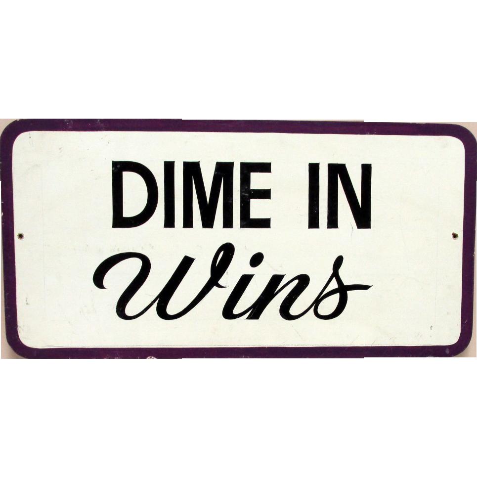 DIME IN Wins Arcade Fair Sign