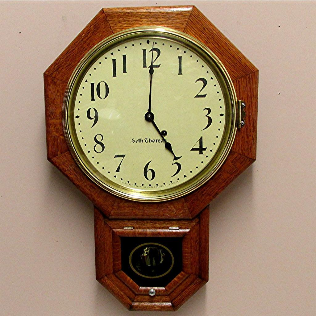 Antique seth thomas regulator wall clock original restored roll over large image to magnify click large image to zoom amipublicfo Choice Image