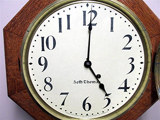 Antique Seth Thomas Regulator Wall Clock Original Restored