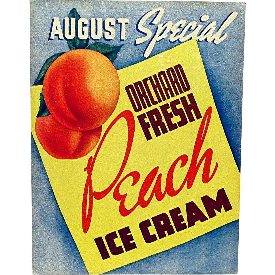 1936 Hood Dairy  Ice Cream Advertising Sign