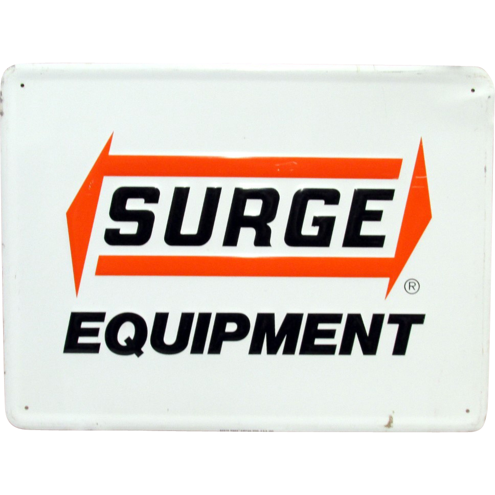 Surge Equipment Metal Advertising Sign