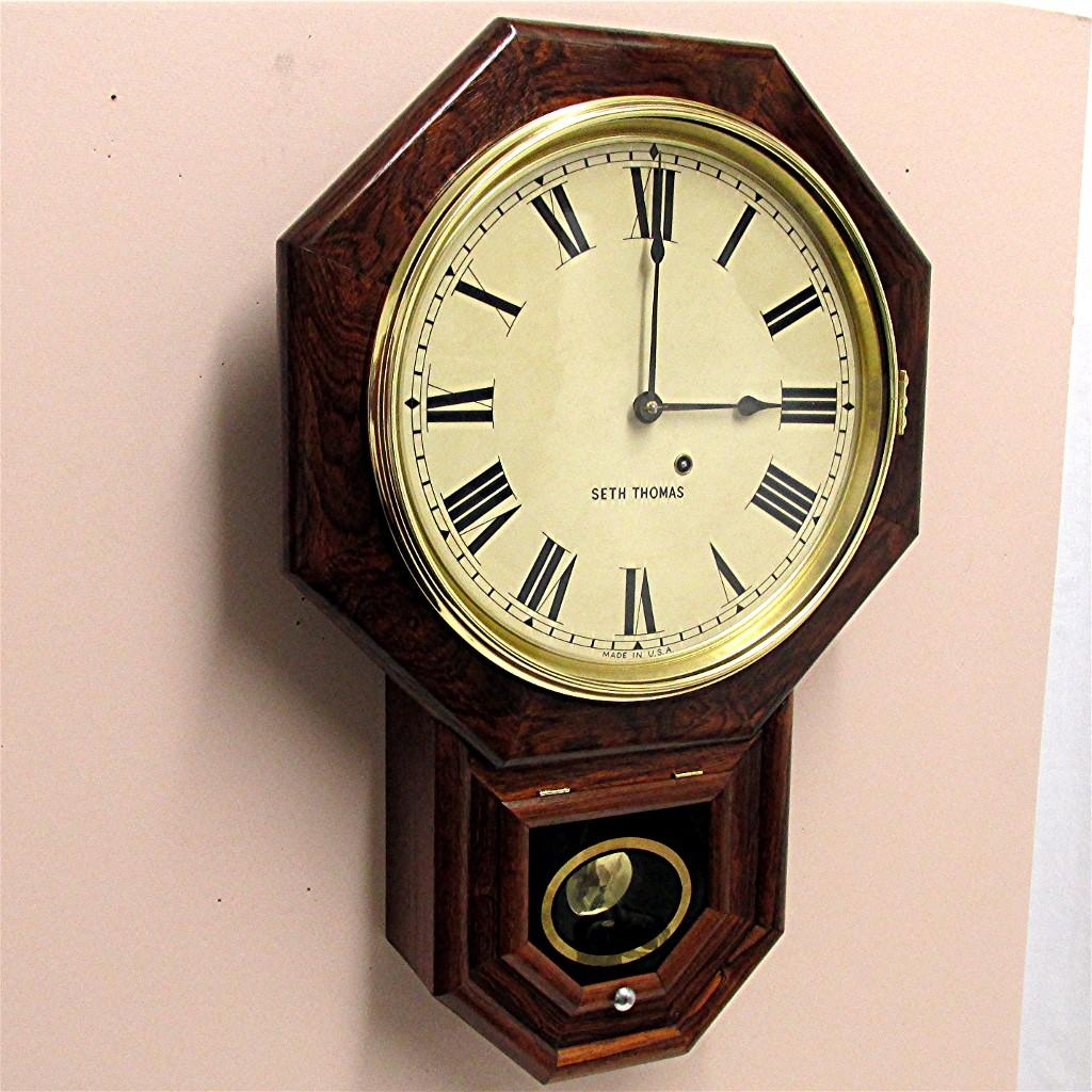 Antique Rosewood Seth Thomas Wall Clock From Drury On Ruby