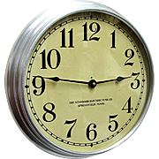 Round Standard Electric Industrial Wall Clock
