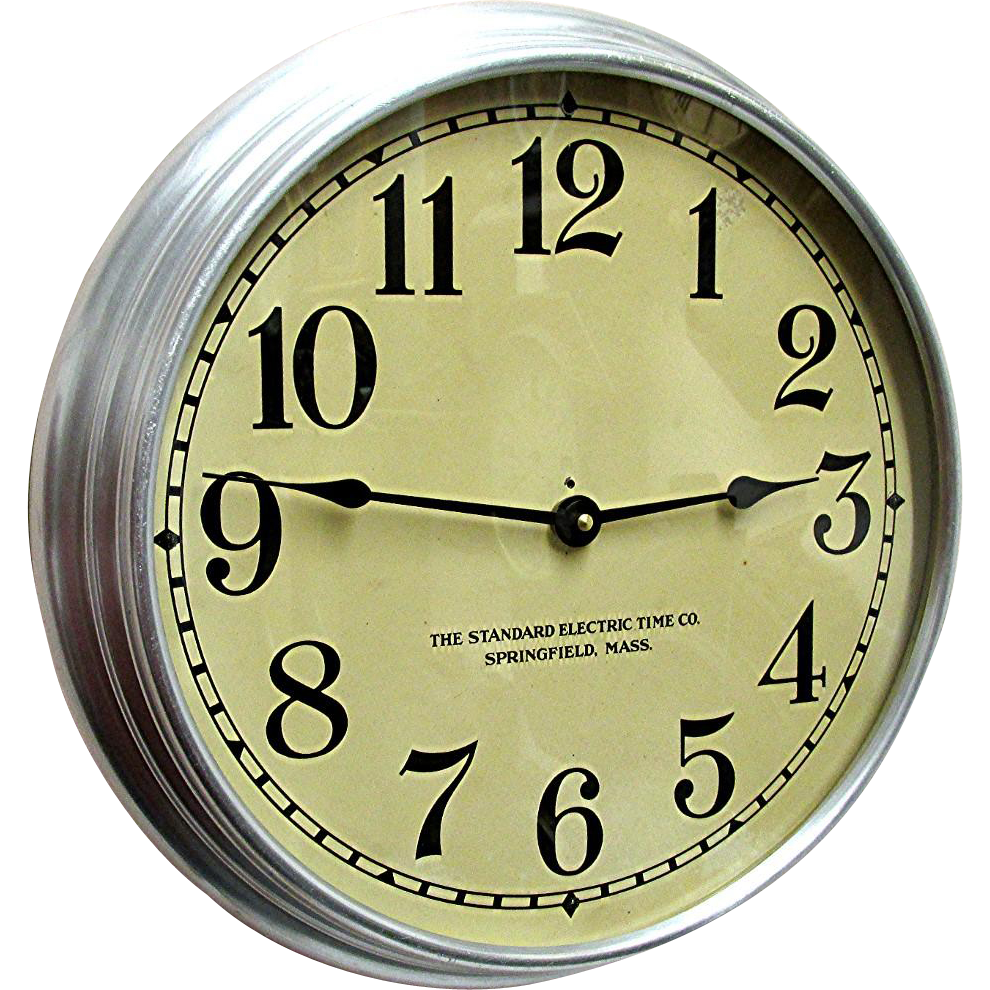 round standard electric industrial wall clock from drury on