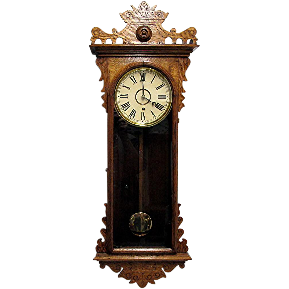 Antique E. N. Welch Meyerbeer Wall Clock 80 Clocks To ...