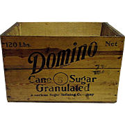 Domino Cane Sugar Wood Advertising Box