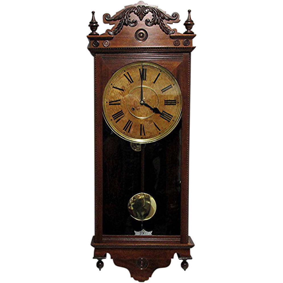 Antique Waterbury Wall Clock 100 Original Fully Restored Sold