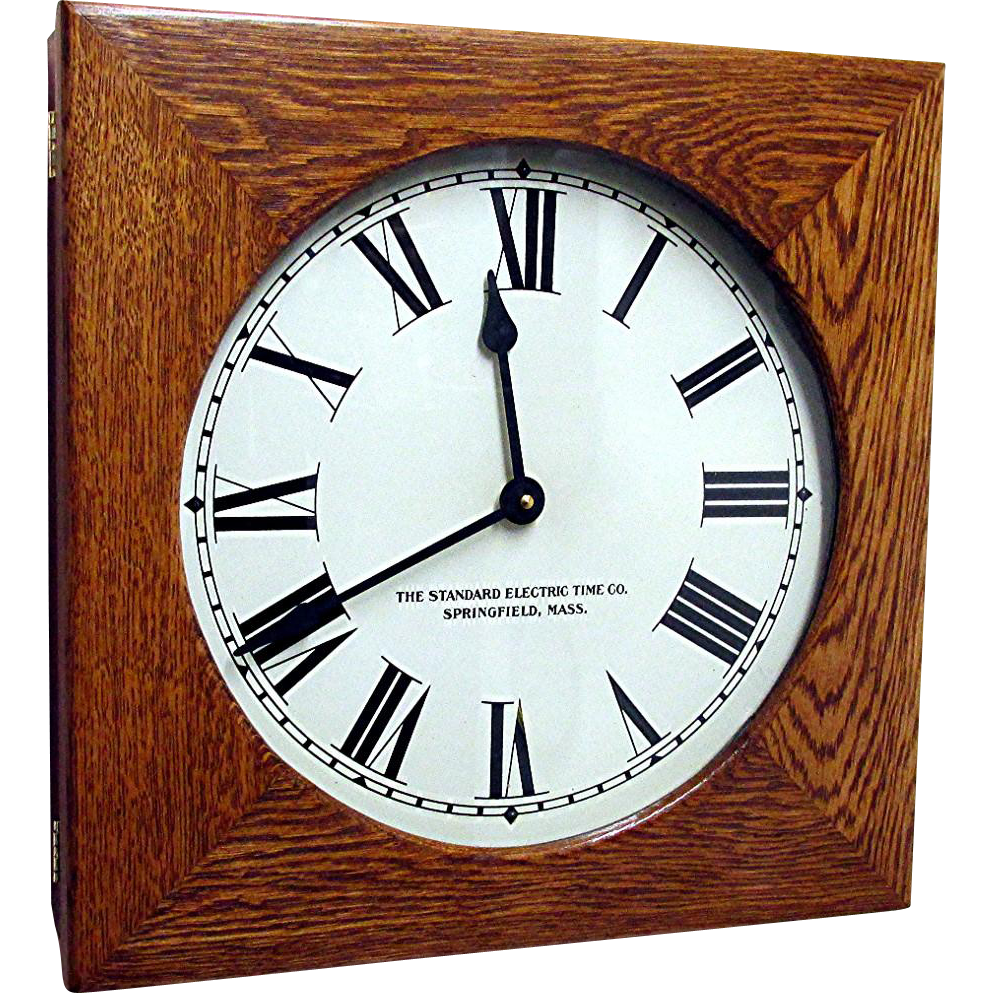 SOLD Standard Electric Time Co. Clock Springfield Massachusetts