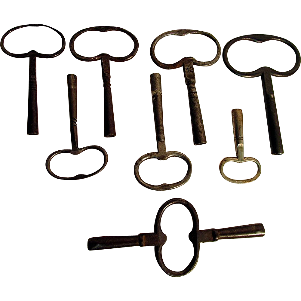 SOLD  Eight Clock Keys