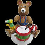 Music Box Teddy Bear Playing Drum