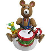 Music Box Teddy Bear Playing Drum