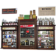 Apothecary Wall Hanging Drugstore or Pharmacy Retail Display