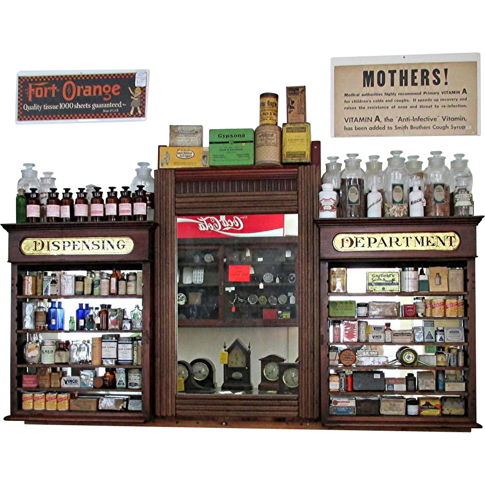 SOLD Apothecary Wall Hanging Drugstore or Pharmacy Retail Display