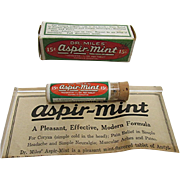 SOLD    Dr. Miles Aspir Mint Original Box, Pamphlet &  Contents in Glass Vial