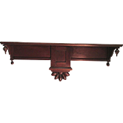 Antique Wall Hanging Shelf Solid Walnut