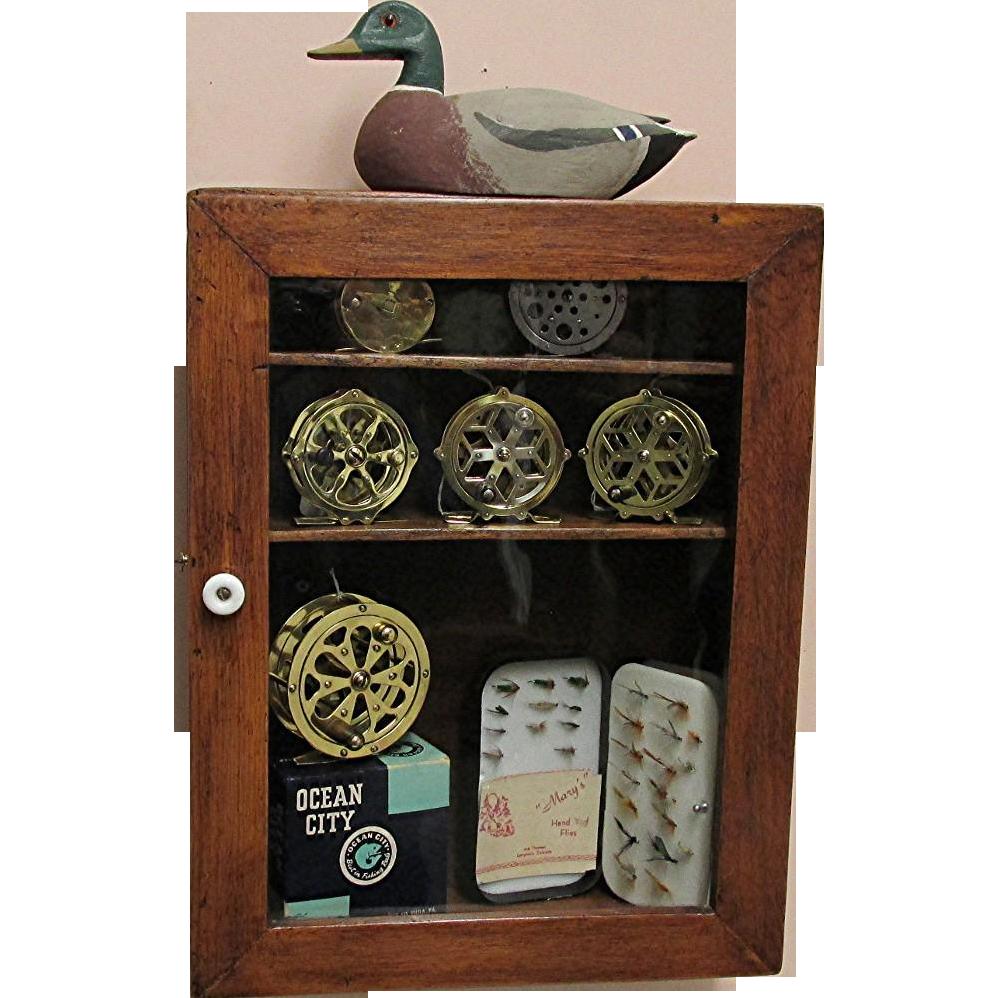 Antique Wall Display Cupboard