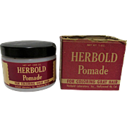 Drugstore  or Pharmacy Herbold Pomade  Hair Care Advertising In Original Box
