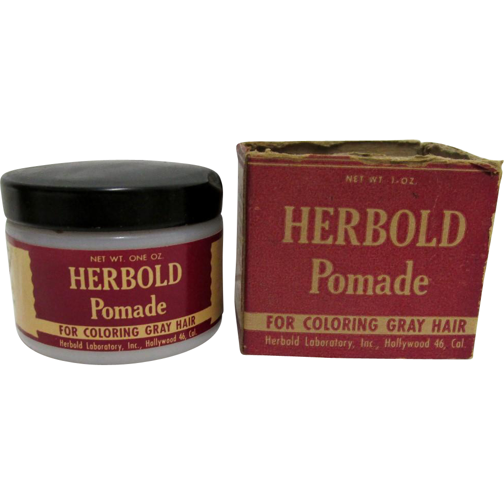 SOLD   Drugstore  or Pharmacy Herbold Pomade  Hair Care Advertising In Original Box