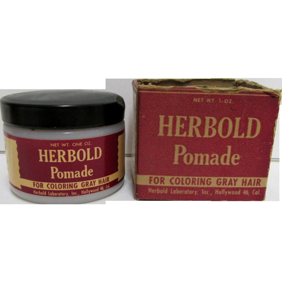 Drugstore  or Pharmacy Herbold Pomade  Hair Care Advertising In Original Box