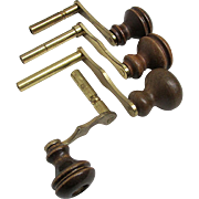 Four Wood Handle Grandfather Clock Keys