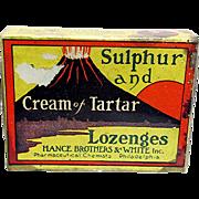 Hance Bros. Lozenges Original Box and Contents Drugstore Item