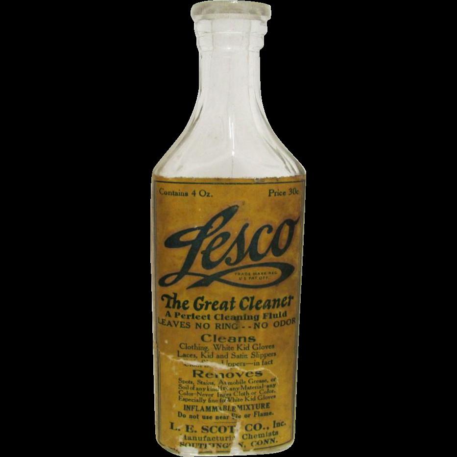 LESCO  The Great Cleaner Advertising Bottle