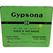 Pharmacy Advertising Tin Gypsona Plaster of Paris Bandage
