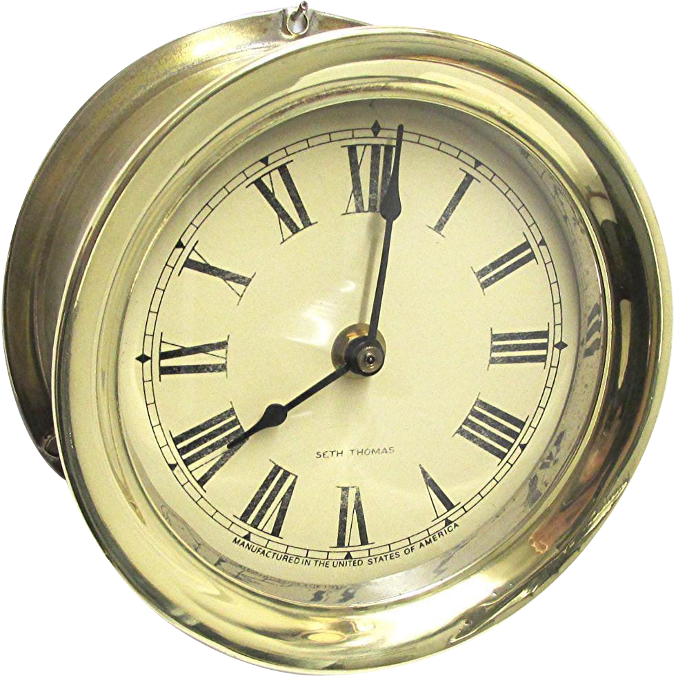 Solid Brass Seth Thomas Ships Clock Keeps Time