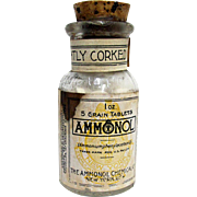 Ammonol Chemical Co. NY Drugstore or Pharmacy Bottle