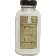 Medicine Bottle Carmacin  Physicians Specimen Burroughs Wellcome & Co.
