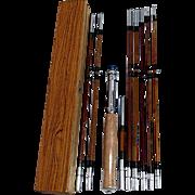 Split Bamboo 9 Piece Travel Rod MINT Unused