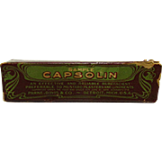 Capsolin Sample in Original Box with Advertising Pamphlet