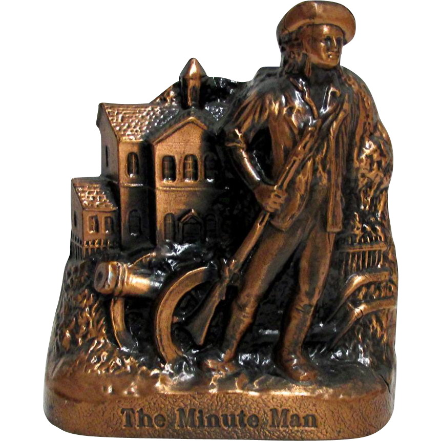 Minute Man Bank  Made by Banthrico from Two Locations Vermont and New Hampshire