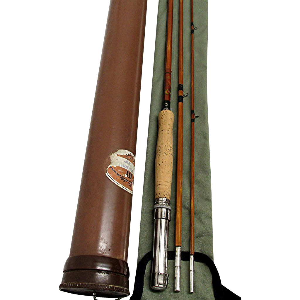 Montague ausable river bamboo fly rod from drury on ruby lane for Montague fishing rod