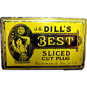 Tobacco Tin Dill's Best Sliced Cut Plug