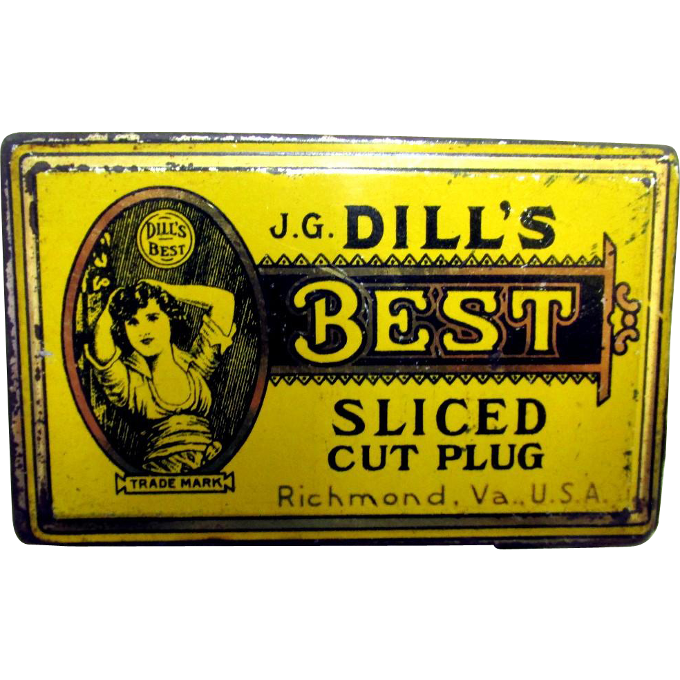 SOLD  Tobacco Tin Dill's Best Sliced Cut Plug