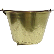 Brass Kettle, Pail, Bucket or Pot American Brass Kettle Co. No.5 Cooking Pot