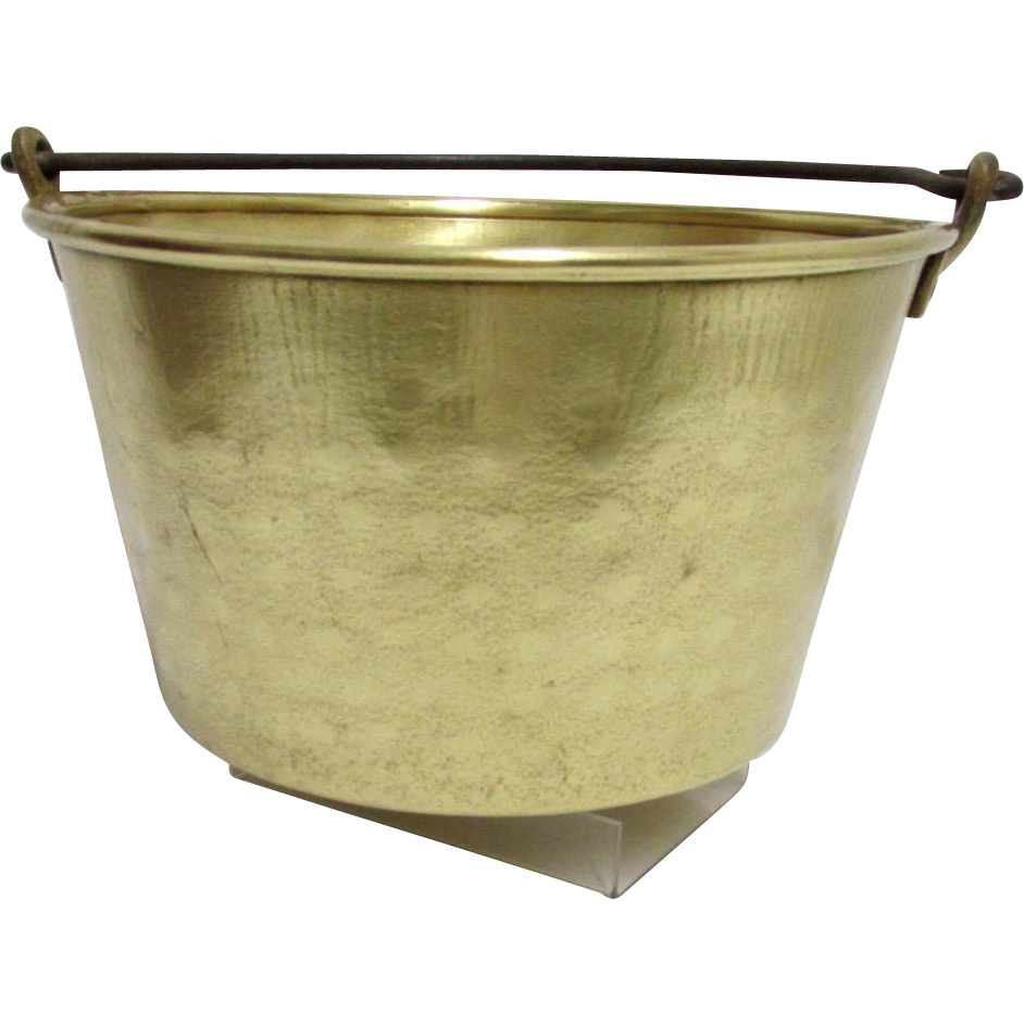 Brass Kettle, Pail, Bucket or Pot Hammered Design Antique Brass Pot or Kettle  Many To Choose From