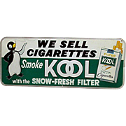 SOLD   See others available to purchase   Original Tin Advertising Sign For Cool Cigarettes