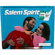 African American Salem Cigarette Advertising Sign