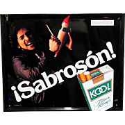 Latino Kool Cigarette Advertising Sign