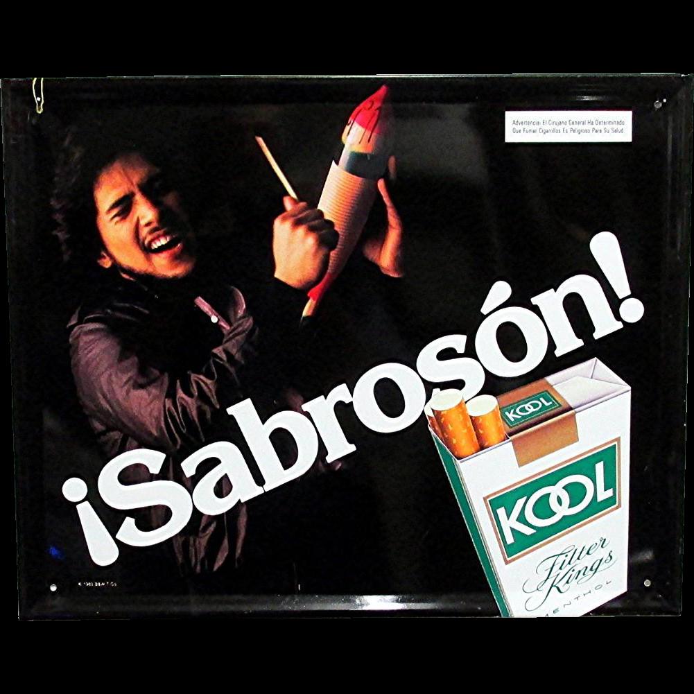 Latino Kool Cigarette Advertising Sign