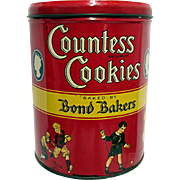 Countess Cookies Advertising Tin New York 1932