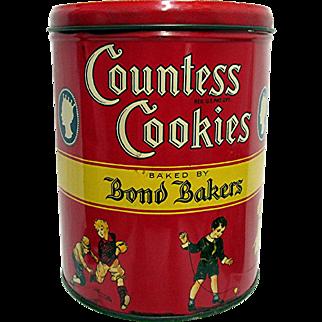 Countess Cookies Advertising Tin New York 1932