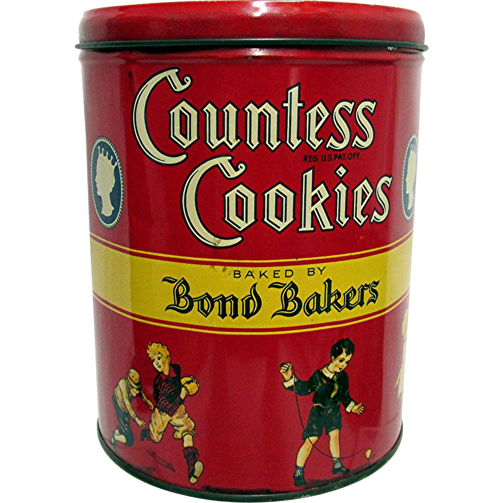 SOLD     Advertising Tin New York 1932 For Countess Cookies