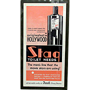 Rexall Advertising Sign Art Deco for Stag Hair Tonic